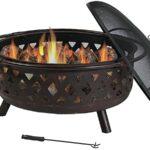 Sunnydaze 36 inch Large Bronze Fire Pit